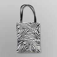 Joe Boxer Women's Tote Bag - Zebra Peace at Kmart.com