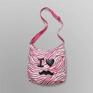Joe Boxer Women's Bowler Bag - Zebra Mustache at Kmart.com