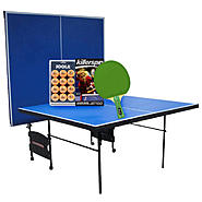 Sportspower Ping Pong Table with Racket & Ball Set Bundle at Kmart.com
