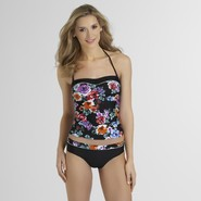 Jaclyn Smith Women's Halter Tankini Top - Floral at Kmart.com