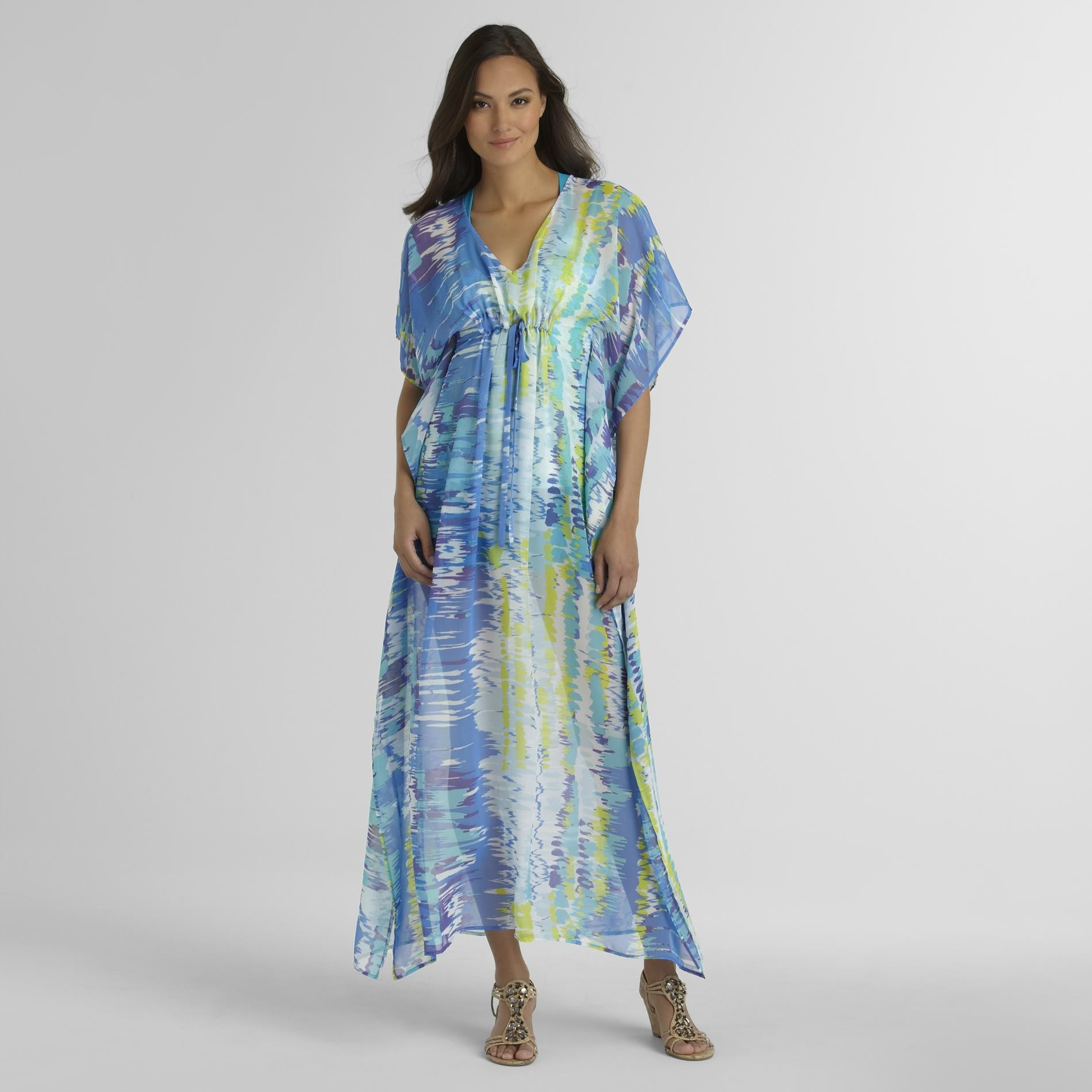 Jaclyn Smith Women's Caftan - Ikat at Kmart.com