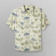 Basic Editions Men's Big & Tall Short-Sleeve Shirt - Airplane Print at Kmart.com