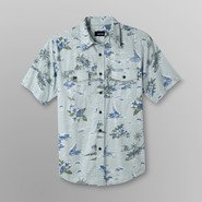 Basic Editions Men's Big & Tall Short-Sleeve Shirt - Tropical Print at Kmart.com