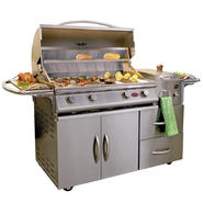 Cal Flame A La Cart Deluxe 4-Burner Stainless Steel Gas Grill Cart with Double Drawers at Sears.com