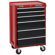 "Craftsman 26"" Wide 6-Drawer Ball-Bearing Bottom Chest -Red/Black at Craftsman.com"
