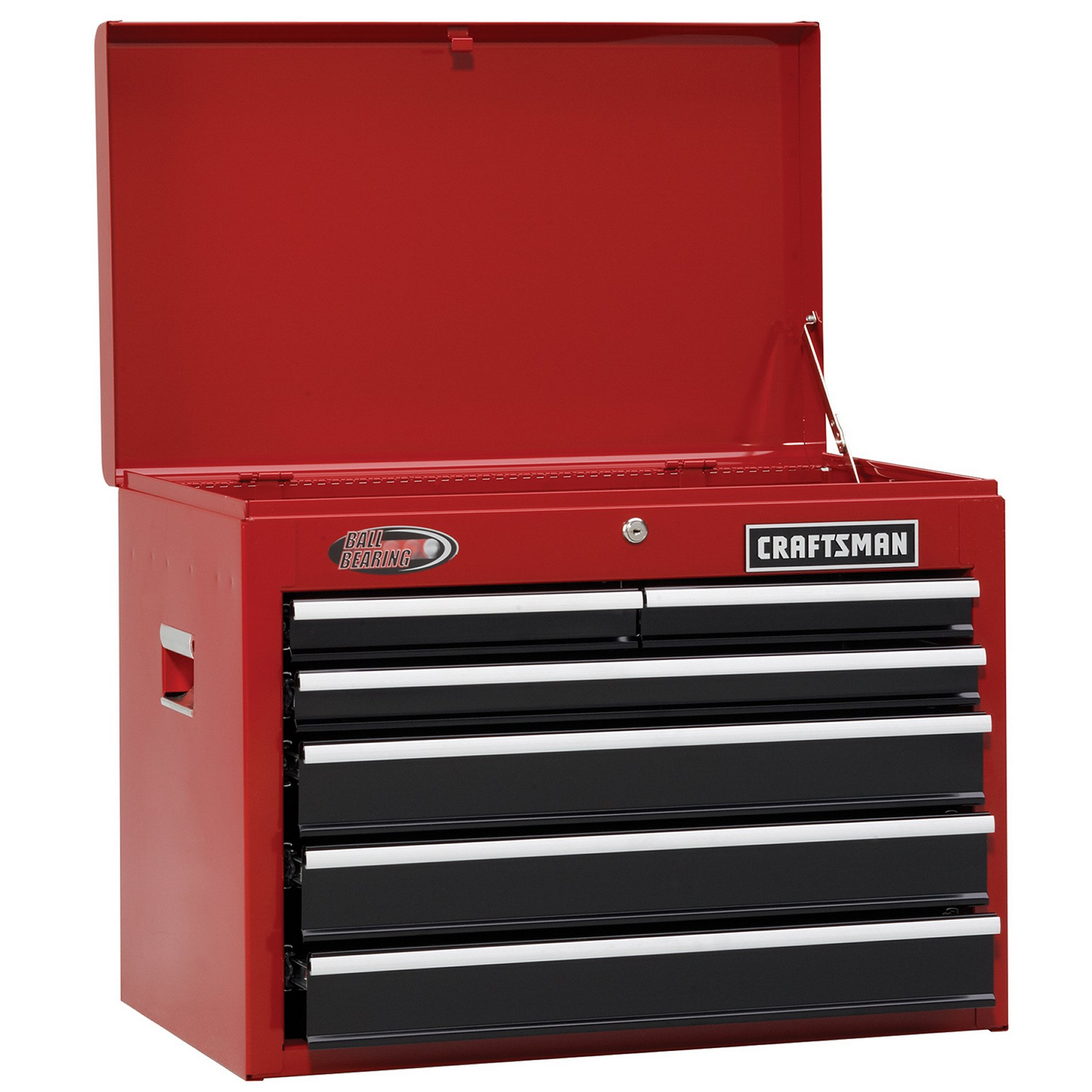 Craftsman 26 Wide 6 Drawer Ball Bearing Top Chest Red