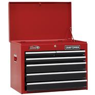 "Craftsman 26"" Wide 6-Drawer Ball-Bearing Top Chest - Red/Black at Sears.com"