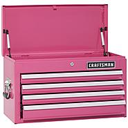 Craftsman 4-Drawer Ball-Bearing Top Chest - Pink at Sears.com