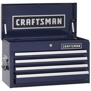 Craftsman 4-Drawer Ball-Bearing Top Chest - Midnight Blue at Craftsman.com