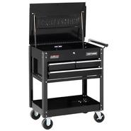 Craftsman 3-Drawer Ball-Bearing GRIPLATCH® Utility Cart - Black at Craftsman.com