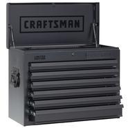 Craftsman 26 in Wide 6 Drawer Heavy Duty Top Chest, Flat Black at Kmart.com