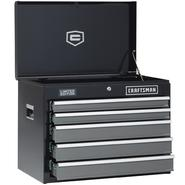 "Craftsman 26"" Wide 5-Drawer Heavy-Duty Ball-Bearing Top Chest - Black/Platinum at Sears.com"