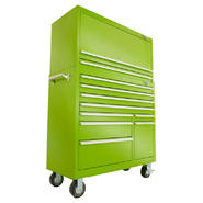 Viper Tool Storage 41-Inch 2 Drawer 18G Steel Top Hutch, Lime at Sears.com