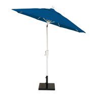 MiYu Furniture 7.5 Foot Autotilt Market Umbrella with White Frame -Assorted Fabric Colors at Kmart.com