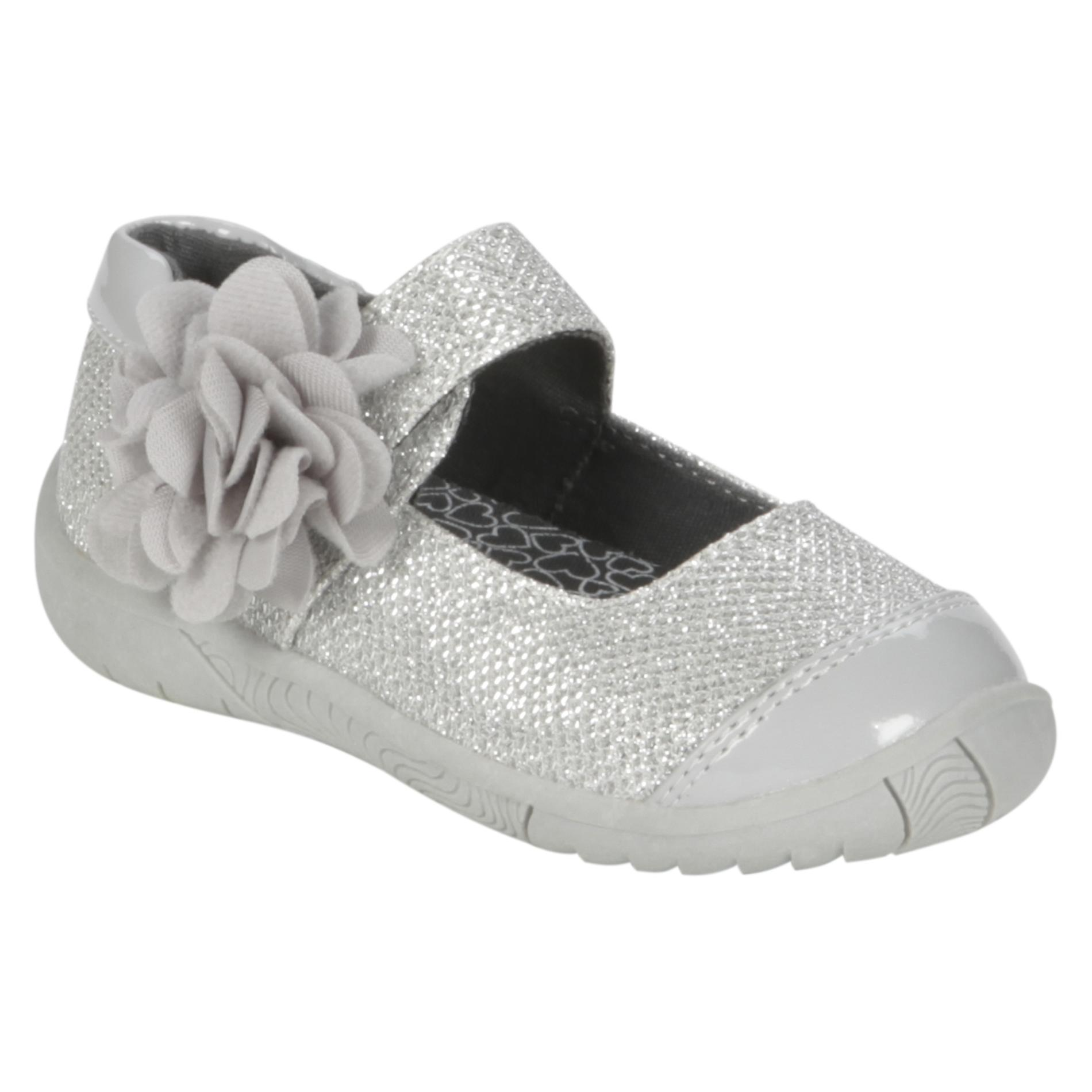 WonderKids  Toddler Girl's Glitter Maryjane Claire - Silver