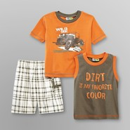 Al & Ray Infant & Toddler Boy's T-Shirt, Muscle Shirt & Shorts - Dirt at Kmart.com