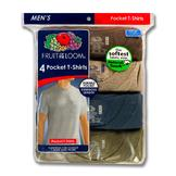 Fruit of the Loom Men's 4-Pack Crewneck Pocket T-Shirt at mygofer.com