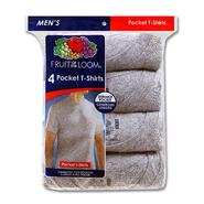 Fruit of the Loom Men's 4-Pack Crewneck Pocket T-Shirt at Kmart.com