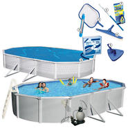 Samoan Oval 52 in. Deep Swimming Pool Package & Pool Maintenance Bundle at Kmart.com