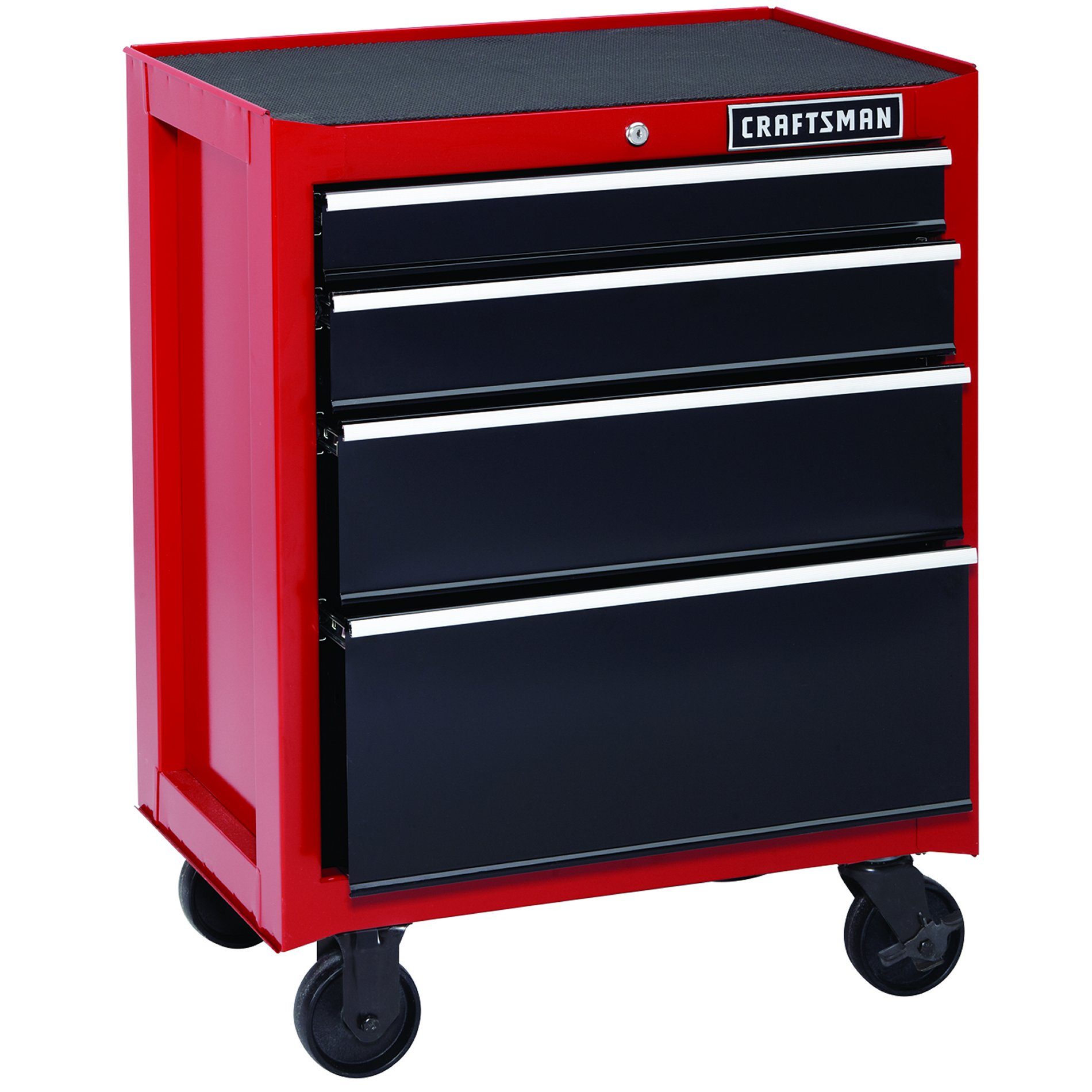 "Craftsman 26"""" 4-Drawer Heavy-Duty Rolling Cabinet - Red"