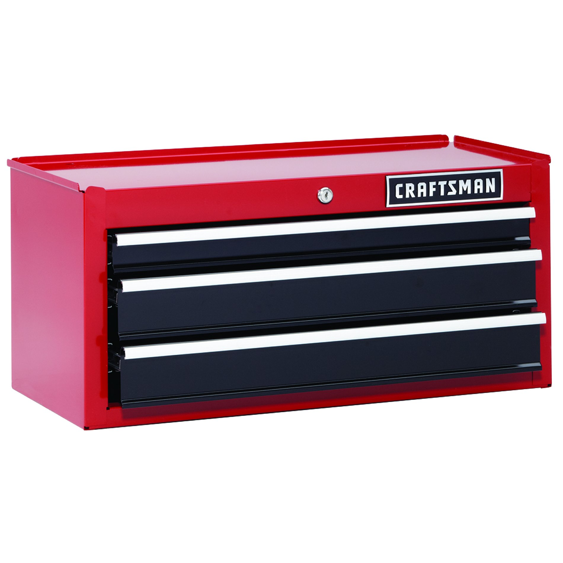 "Craftsman 26"""" 3-Drawer Heavy-Duty Middle Chest - Red/Black"
