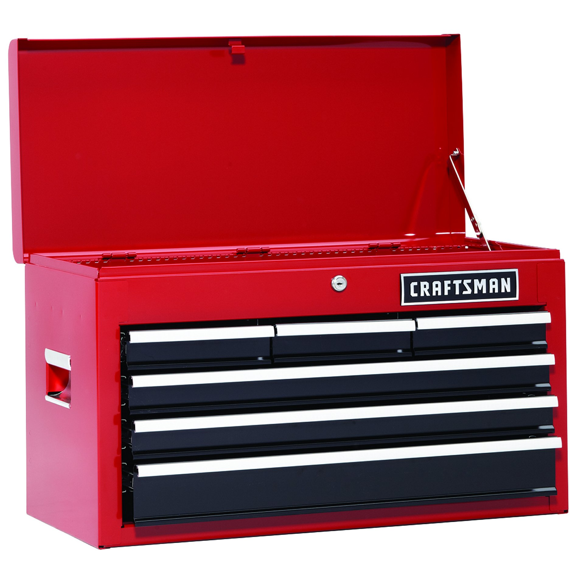 "Craftsman 26"""" 6-Drawer Heavy-Duty Top Chest - Red"