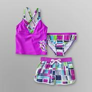 ZeroXposur Girl's Halter Tankini Swim Set - 3 Pc. at Sears.com