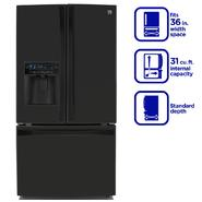 Kenmore Elite 31.0 cu. ft. French Door Bottom-Freezer Refrigerator- Black at Kenmore.com