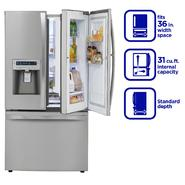Kenmore Elite 31 cu. ft. Grab-N-Go Bottom-Freezer French-Door Refrigerator - Stainless Steel at Sears.com