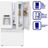 Kenmore Elite 31 cu. ft. Grab-N-Go Bottom-Freezer French-Door Refrigerator - White at Sears.com