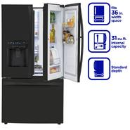 Kenmore Elite 31 cu. ft. Grab-N-Go French Door  Bottom-Freezer Refrigerator - Black at Sears.com