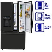 Kenmore Elite 31 cu. ft. Grab-N-Go French Door  Bottom-Freezer Refrigerator - Black at Kenmore.com