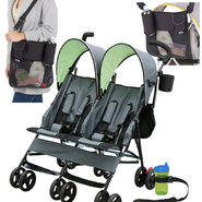The Delta Children's Side by Side Tandem Stroller & T...