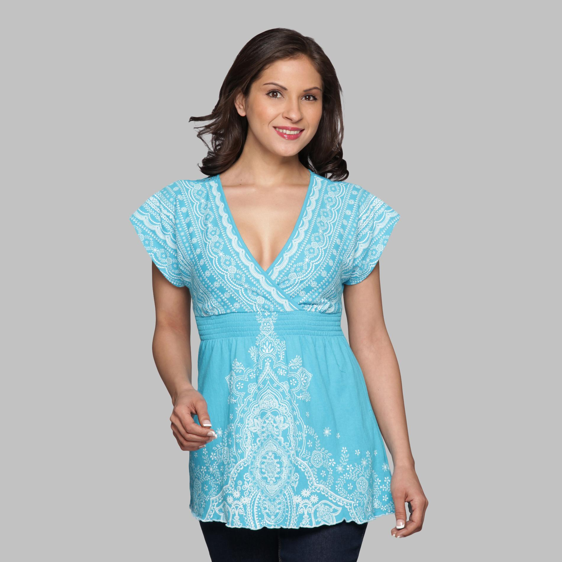 Almost Famous Women's Surplice Top - Crochet at Sears.com