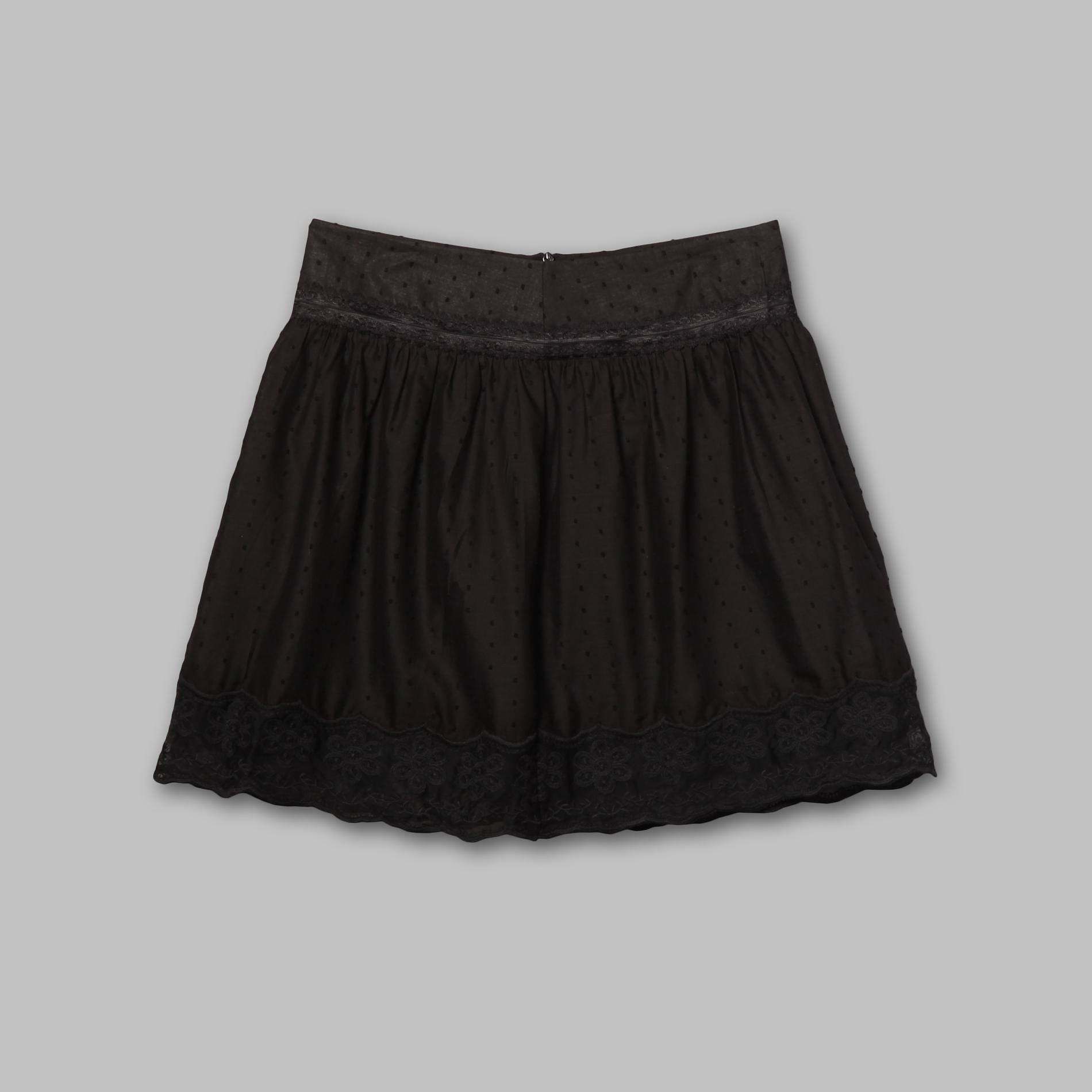 Joe Benbasset Junior's Lace Hem Skirt - Swiss Dot at Sears.com