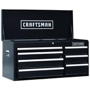 Craftsman 40 In. 7-Drawer Heavy-Duty Ball Bearing Top Chest - Black at Craftsman.com