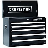 Craftsman 26 In. 5-Drawer Heavy-Duty Ball Bearing Top Chest - Black at Kmart.com
