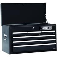 Craftsman 26 In. 6-Drawer Heavy-Duty Ball Bearing Top Chest -Black at Sears.com