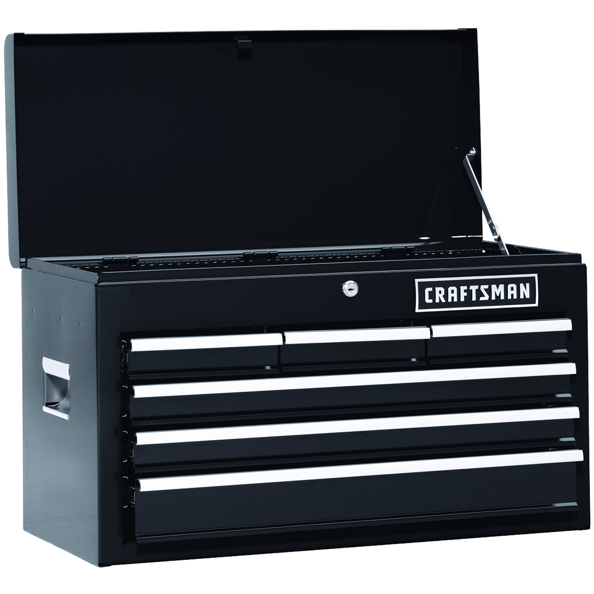 "Craftsman 26"""" 6-Drawer Heavy-Duty Top Chest - Black"