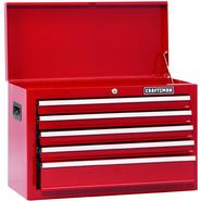 Craftsman 26 In. 5-Drawer Standard-Duty Ball Bearing Top Chest - Red at Kmart.com