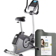 NordicTrack Upright Indoor Cycle Bundle with Mat & Ji...