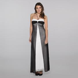 Bee Darlin Junior's Halter Prom Dress - Colorblock at Sears.com
