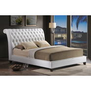 Baxton Jazmin Tufted White Modern Bed with Upholstered Headboard - Queen Size at Kmart.com