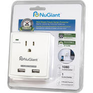 NuGiant NSS14 Wall Mount Surge Protector with USB Charger (White) at Kmart.com