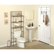 "Zenith Products ""Diamond"" 3 Piece Metal Bath in a Box - Spacesaver, Paper Holder, Door Hooks, Oil Rubbed Bronze at Kmart.com"