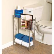 "Zenith Products ""Cross Style"" Magazine Rack with Shelves, Satin Nickel at Kmart.com"