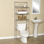 "Zenith Products ""Cross Style""  Metal Spacesaver, 3 Shelf, Satin Nickel at Kmart.com"