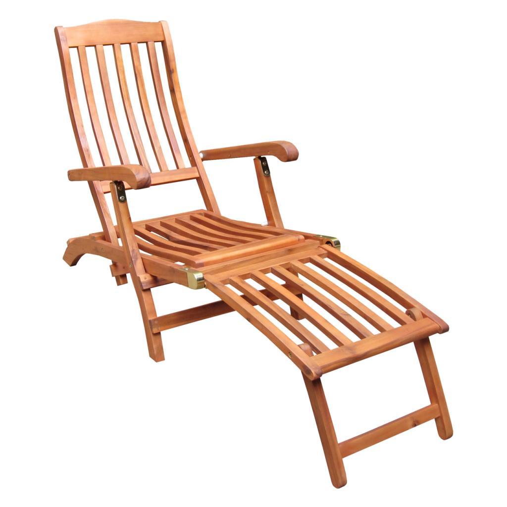 Internationa Concepts Outdoor Steamer Chair with Brassplated Hardware, Brown