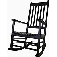 International Concepts Solid Wood Porch Rocker in Black at Kmart.com