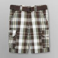 Toughskins Boy's Belted Cargo Shorts - Plaid at Sears.com